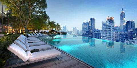 Rooftop swimming pool at Park Hyatt Bangkok (Photo: Business Wire)