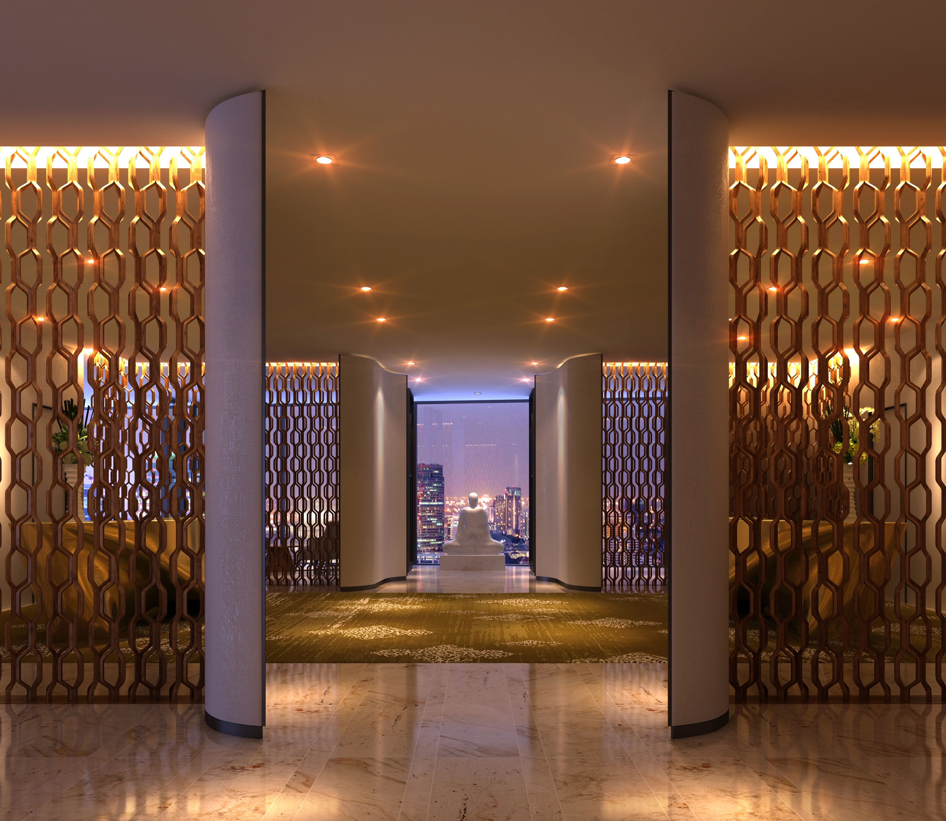 Lobby at Park Hyatt Bangkok (Photo: Business Wire)
