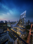 Park Hyatt Bangkok sits on the top floors of the Central Embassy (Photo: Business Wire)