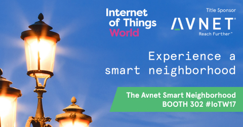 "Avnet showcases how IoT impacts daily life in its ""Smart Neighborhood"" Booth #302 at Internet of Things World, May 16-18, Santa Clara Convention Center. (Graphic: Business Wire)"