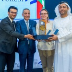 His Excellency Majid Al Mansouri Receiving Award at Fes Meknes Economic Forum in Morocco (Photo: ME NewsWire)
