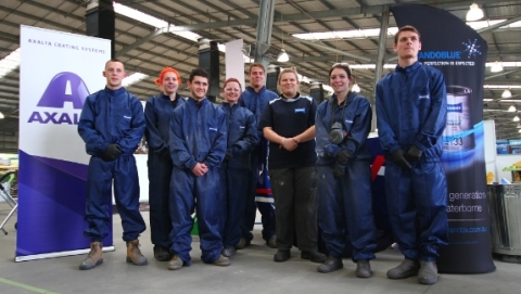 Pictured: The 2016 WorldSkills National Competitors. As a Gold Partner to WorldSkills Australia, Axalta will support both the Regional and National Competitions through the supply of Axalta's Standoblue® refinish products and the new generation of Sagola® spray guns. (Photo: Axalta)