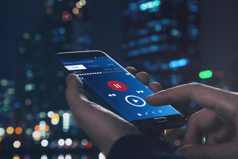 Philips voice recorder app (Photo: Business Wire)