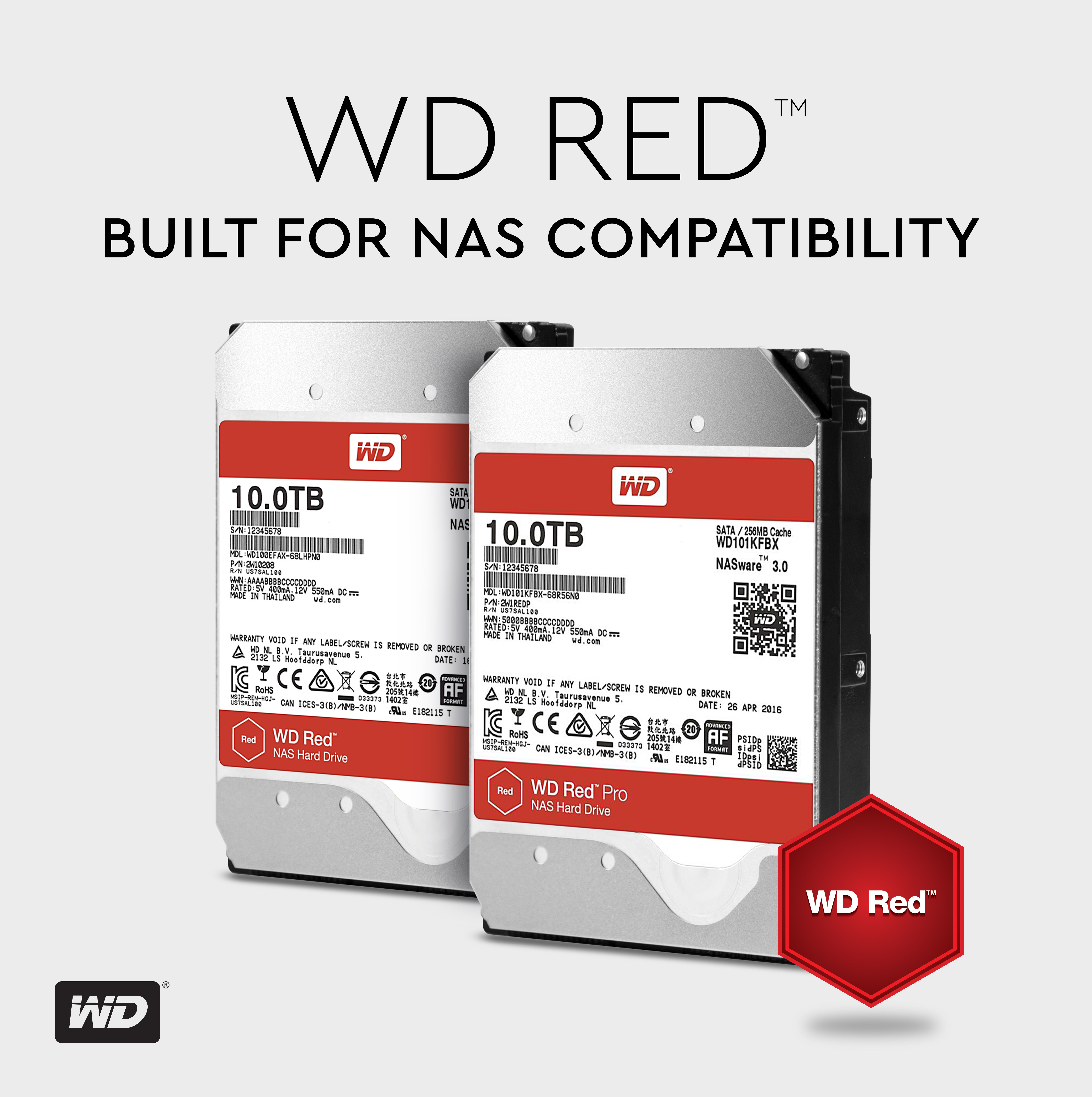western digital expands nas optimized hard drive offerings to 10tb with advanced storage helium. Black Bedroom Furniture Sets. Home Design Ideas