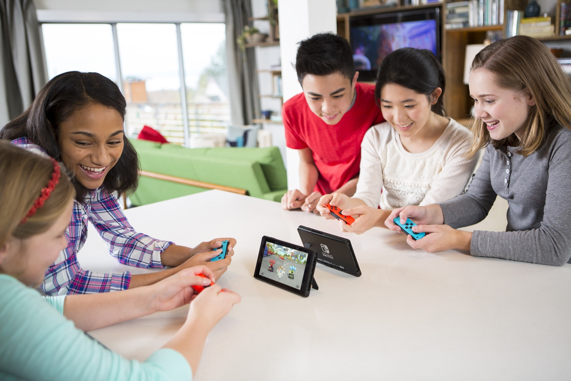 This is the second month in a row that Nintendo Switch has led the pack in video game hardware sales, following a record-breaking launch in March. (Photo: Business Wire)