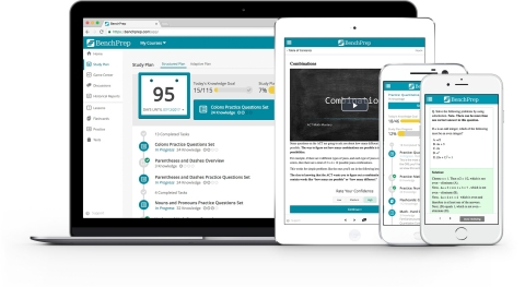 The BenchPrep platform allows learners to prepare for exams at any time or anywhere, across all devices (Photo: Business Wire)