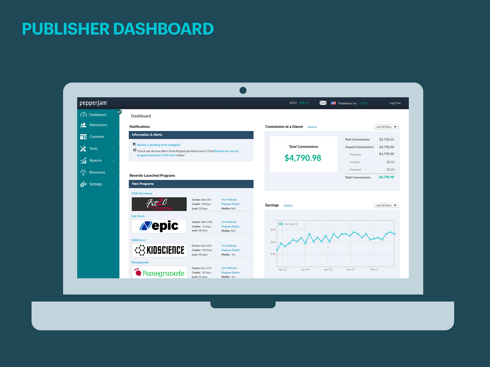 Pepperjam Publisher Dashboard | www.pepperjam.com