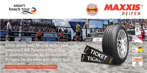 Mit ReifenDirekt.de und Maxxis zur smart beach tour nach Binz (Foto: Business Wire)