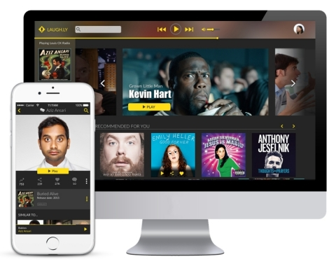 From mobile devices to desktops, Laughly provides anyone, anywhere with access to great comedy. (Photo: Business Wire)