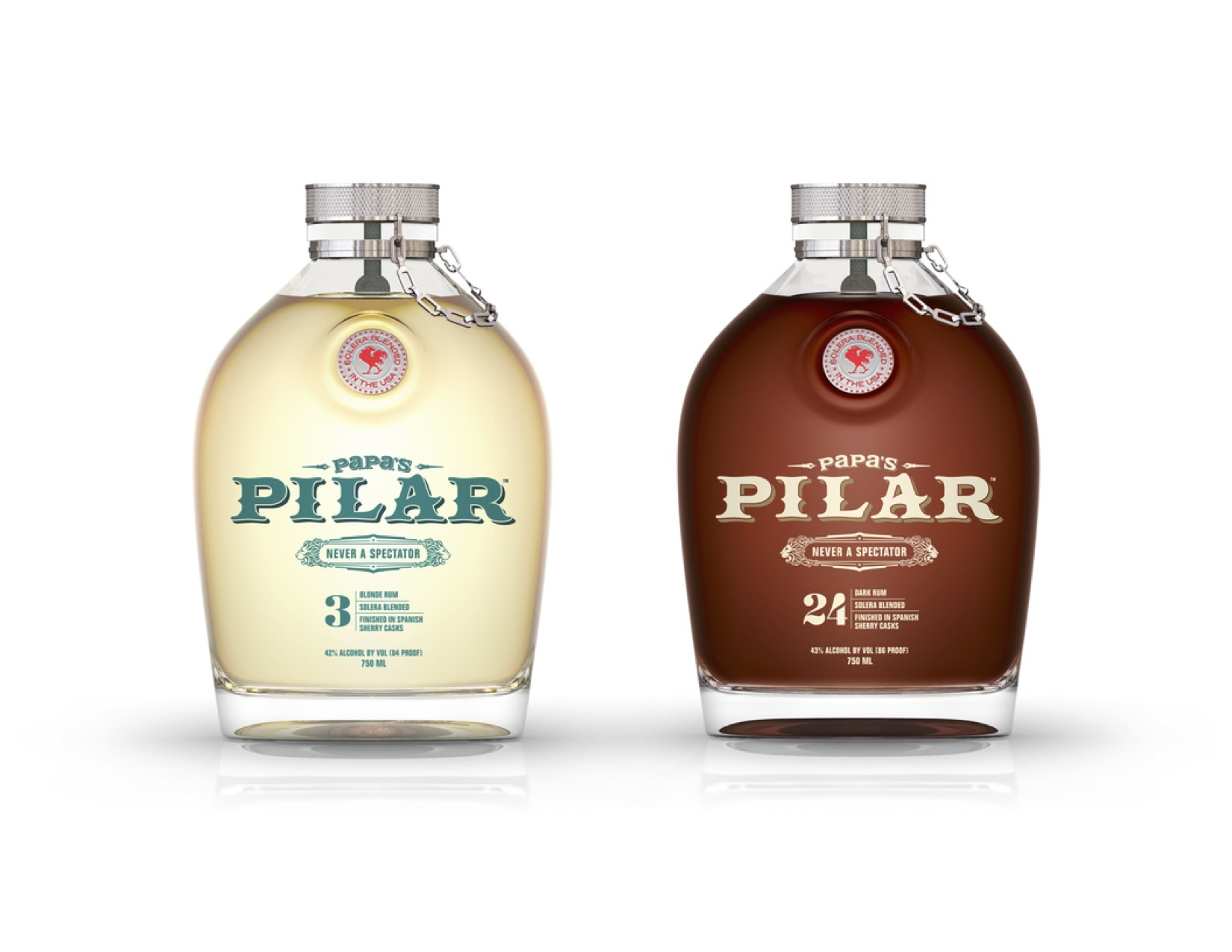 Papa's Pilar Dark & Blonde rum varieties arehand-selected from ports-of-call in theCaribbean, Central America and Floridafor their age, character and maturity, and then blended and solera aged using Bourbon barrels, Spanish Sherry casks and Port Wine casks (dark only). (Photo: Business Wire)