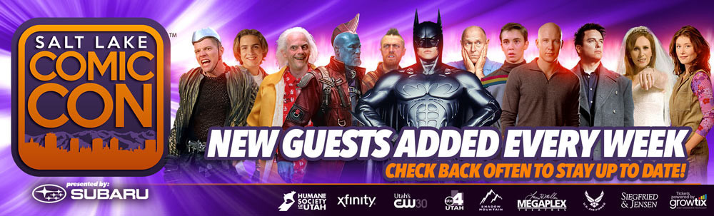 Initial Celebrity Guest Lineup for Salt Lake Comic Con. Dozens more to be announced. (Graphic: Business Wire)