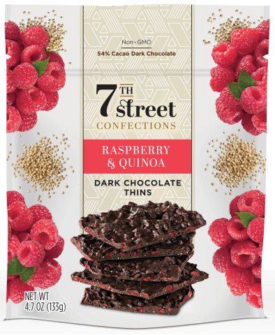 """Satisfying consumers' growing appetite for """"better for you"""" snacks and confections, the Dark Chocolate Thins pair dark chocolate containing 54 percent cacao with fruits, nuts and grains to provide a unique flavor punch with a crunchy mouthfeel. (Photo: Business Wire)"""