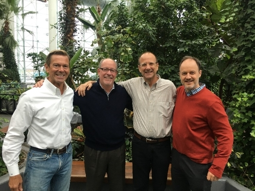Moore Landscapes team at The Crystal Gardens on Navy Pier. Left to right: Victor Moore, Joel Korte, Eric Moore, Andrew Brennan (Photo: Business Wire)