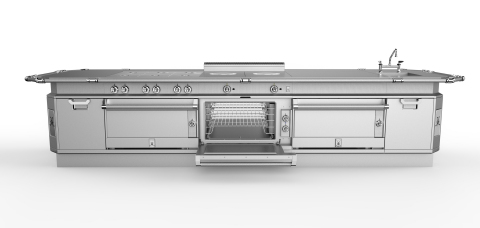 Hestan's patent-pending Pass-through Convection Oven with heavy duty, high-efficiency convection fan/motor system delivers superior convective heat transfer, heat retention and overall cooking performance. (Photo: Business Wire)