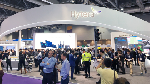 The crowd of CCW2017 visitors at Hytera booth (Photo: Business Wire)