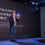 Qingzhou Chen, Founder and President of Hytera, addresses the Hytera Global Summit 2017 (Photo: Business Wire)