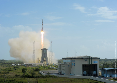 Successful launch for SES-15, SES's First GEO Satellite on Soyuz- Credit: ESA-CNES-Arianespace