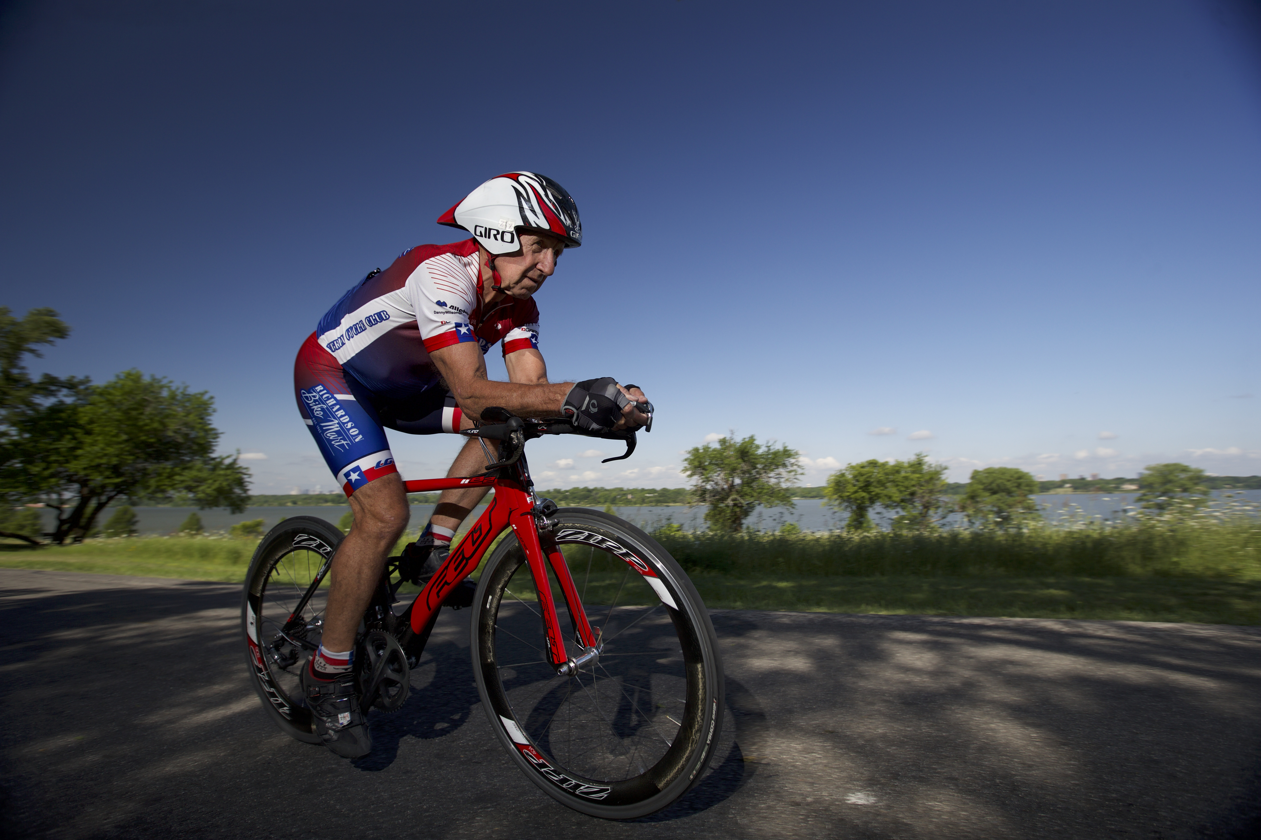 Zoltan Zsohar, 70, of Dallas, will compete in various cycling competitions at the 2017 National Senior Games presented by Humana and is one of 15 senior athletes being recognized as a 2017 Humana Game Changer. Humana Game Changers are National Senior Games athletes who exemplify healthy aging and provide encouragement, motivation and inspiration for all seniors to start with healthy. The 2017 National Senior Games presented by Humana will take place June 2-15, 2017 in Birmingham, Alabama. (Brandon Wade/AP Images for Humana)