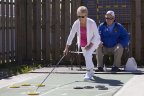 From left, Sylvia Smith, 74, and her husband Dan Smith, 75, both of Weston, Ohio, will compete in singles and doubles shuffleboard at the 2017 National Senior Games presented by Humana and are two of 15 senior athletes being recognized as 2017 Humana Game Changers. Humana Game Changers are National Senior Games athletes who exemplify healthy aging and provide encouragement, motivation and inspiration for all seniors to start with healthy. The 2017 National Senior Games presented by Humana will take place June 2-15, 2017 in Birmingham, Alabama. (Rick Osentoski /AP Images for Humana)