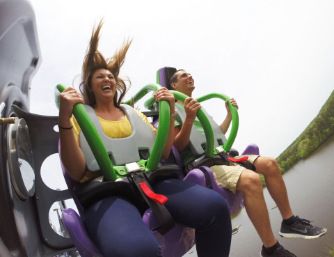 THE JOKER Free Fly Coaster is the 13th and most unique roller coaster at Six Flags Over Texas. (Photo: Business Wire)