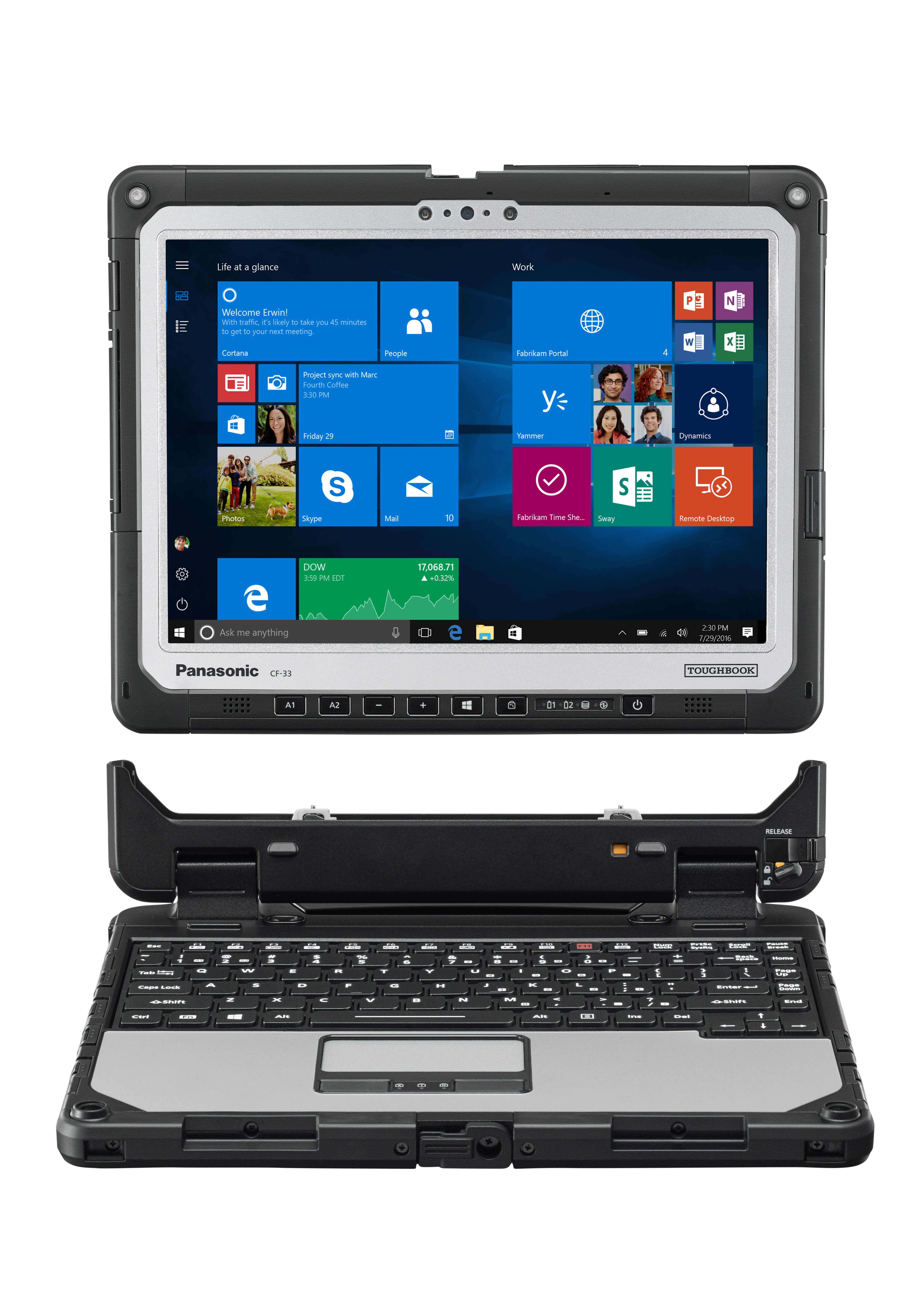 The Toughbook 33 is a fully-rugged 2-in-1 detachable laptop. (Photo: Business Wire)