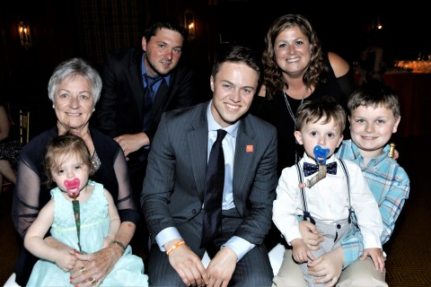 Donor Nick Judson and marrow recipient A.J. Loscheider (front right) and family (Photo: David Nicholas Photography)