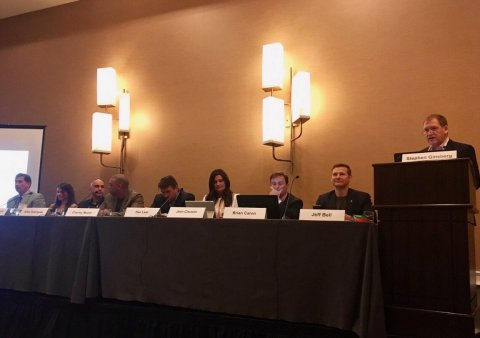 LegalShield CEO Jeff Bell (second from right) spoke on a panel at the GLSA Legal Conference in Phoen ...