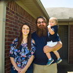 Skylor Swope received a $7,000 Homebuyer Equity Leverage Partnership grant from Centennial Bank and FHLB Dallas, which helped him purchase his first home. (Photo: Business Wire)