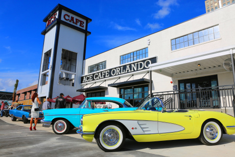 Ace Cafe Orlando, the first North American location of the celebrated London-based motor-diner and t ...
