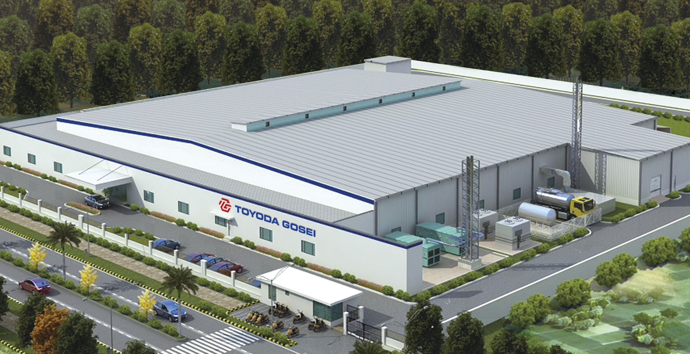 Rendering of Toyoda Gosei's Gujarat Plant (Graphic: Business Wire)