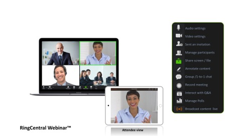 RingCentral today unveiled RingCentral Webinar™, a new addition to the RingCentral portfolio providing large-scale virtual meetings for audiences across global regions. (Photo: RingCentral)