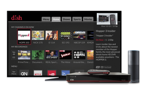 Amazon Alexa now available on DISH's Hopper DVR. (Photo: Business Wire)