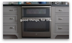 The new 'good things, for life' tagline is designed to bring the company's legacy into the present in a meaningful, refreshing way. (Photo: GE Appliances, a Haier company)