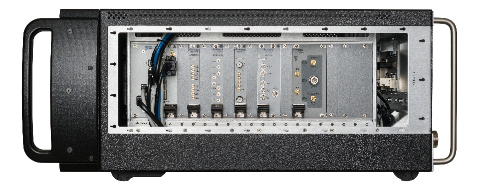 The new ATS-3100 PXI Integration Platform as shown with PXI instrument plug-ins from Astronics Test Systems and NI. (Photo: Business Wire)