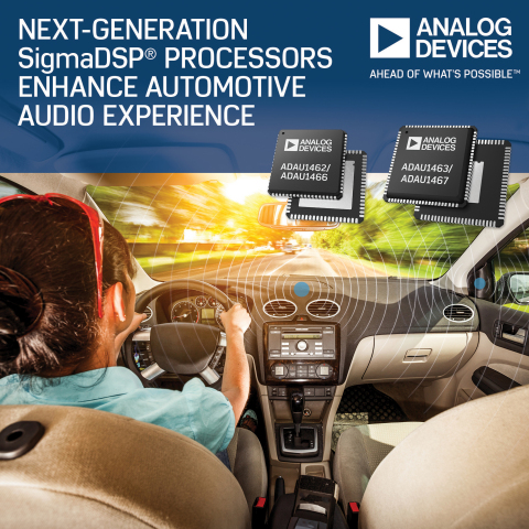 Analog Devices' Next-Generation Digital Signal Processors Provide Greater Internal Program and Data Memory for Automotive Audio Applications (Photo: Business Wire)