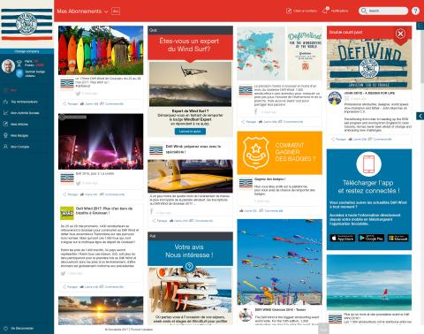 The Défi Wind Sociabble4Fans interface by Sociabble (Photo: Business Wire)