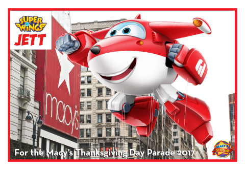 Super Wings star, Jett, joins the high-flying, giant helium balloon lineup in the 91st Macy's Thanksgiving Day Parade this November. (Photo: Business Wire)