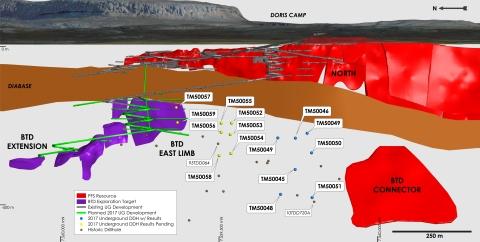 Figure 2 - Doris North BTD Access Ramp and 2017 Diamond Drilling (Photo: Business Wire)