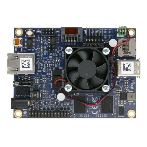 MinnowBoard Turbot quad-core is a small, low cost, powerful open source hardware board that supports most Linux operating systems, Windows® 10 IoT Core, and Android™. (Photo: Business Wire)