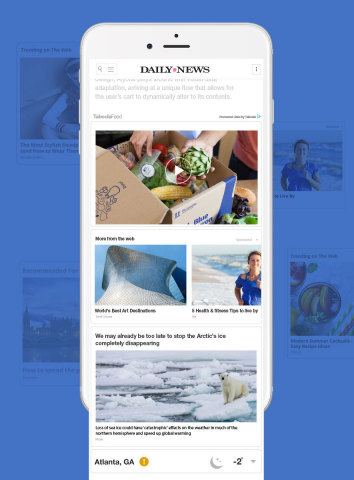 New York Daily News first to implement Taboola Feed (Photo: Business Wire)