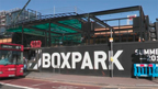 This project consisted of over 6000 square feet of insulation to be sprayed into the walls and ceilings for the new Croydon BoxPark. Shipping containers fitted out for food and drink vendors. (Video: Business Wire)