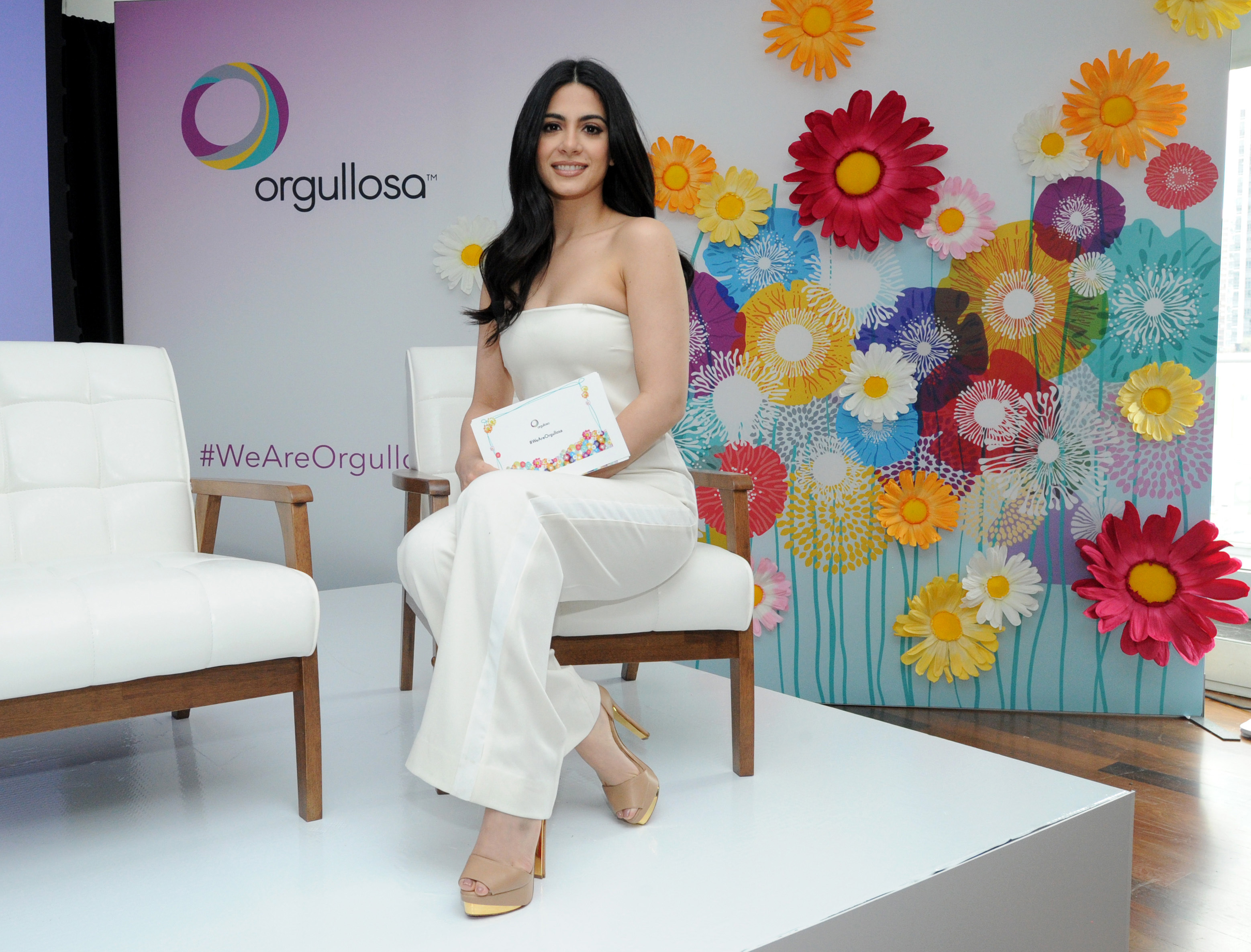Actress Emeraude Toubia unveils a docu-style video launched by P&G's Orgullosa to celebrate the diversity of Latina beauty at the #WeAreOrgullosa event, Tuesday, May 23, 2017 in New York. P&G brands Crest, Herbal Essences, Olay, Pantene, Secret and Venus sponsor the initiative. Visit Orgullosa.com to preview the film. (Photo by Diane Bondareff/Invision for P&G Orgullosa/AP Images)