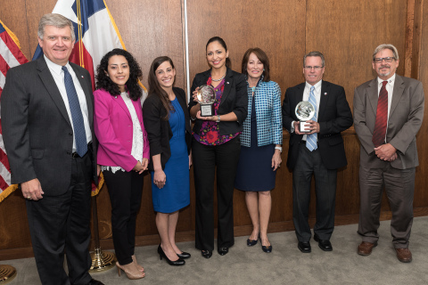 Port Houston's Marketing and External Communications Team won American Marketing Association (AMA) Crystal Awards for Logo Design 2017 and Best Branding/Rebranding (Photo: Business Wire)