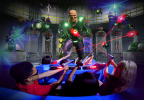 The only ride of its kind in the southeast, JUSTICE LEAGUE: Battle For Metropolis 4D debuts at Six Flags Over Georgia near Atlanta. Engaging in a full-sensory journey on JUSTICE LEAGUE: Battle for Metropolis at Six Flags Over Georgia near Atlanta, guests will battle alongside BATMAN™, SUPERMAN™, WONDER WOMAN, THE FLASH and GREEN LANTERN against Lex Luthor, The Joker and his henchmen. (Photo: Six Flags Over Georgia)