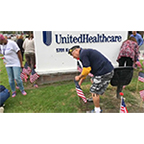 UnitedHealthcare employees for the fourth year honored America's veterans and service members this Memorial Day by placing more than 1,800 U.S. flags in front of the company's California headquarters in Cypress. Employees were joined by members of American Legion Cypress Post 295 who shared their personal stories and also placed the flags in front of the building (Video: Kevin Herglotz).