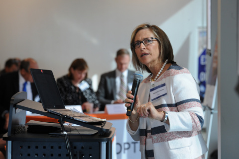 Former Army Surgeon General and current Optum Military and Veterans Group CEO Patty Horoho speaking at the VA's Demo Day (Photo courtesy of the VA).