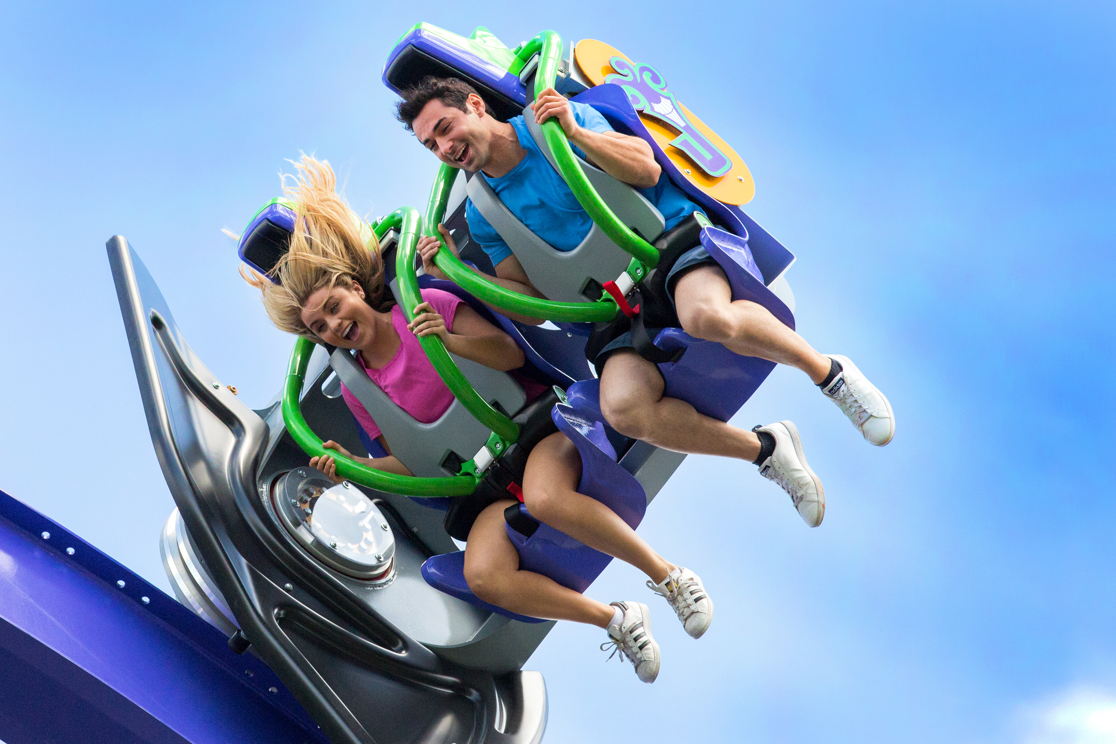 THE JOKER Free Fly Coaster flips you head-over-heels (Photo: Business Wire)