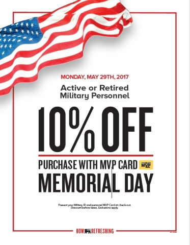 Food Lion Announces 10 Percent MVP Discount for Active and Retired Military Personnel on Memorial Day (Photo: Business Wire)