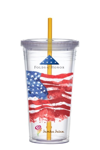 Jamba stores will sell signature tumblers to raise funds for educational scholarships in support of Folds of Honor. (Photo: Business Wire)