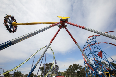 Wonder Woman Lasso of Truth is Six Flags Discovery Kingdom's fourth DC branded attraction, joining thrill coasters Superman Ultimate Flight and The Joker, and super water cannon ride, The Penguin. (Photo: Business Wire)